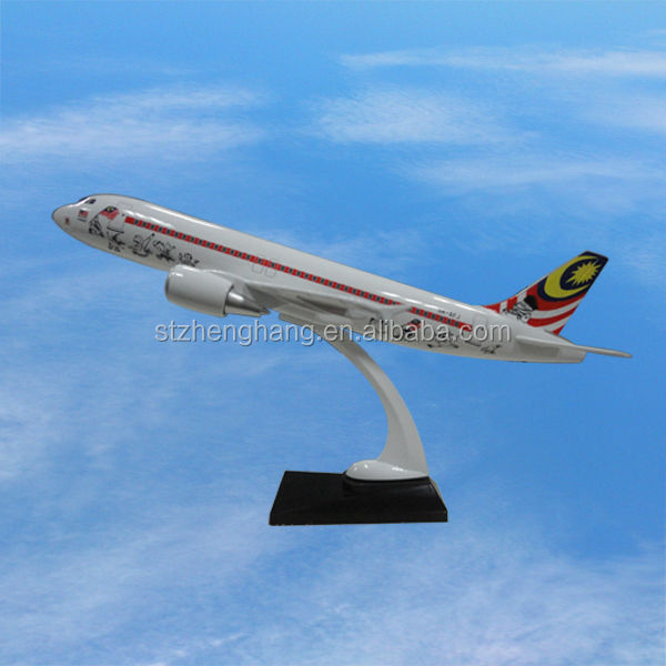 A320 Airbus assembled airplane model, 38cm, ISO9001, excellent quality, detachable, business gift, decoration aircraft model