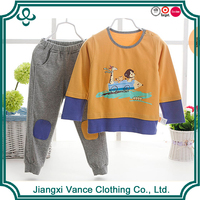 2015 new children's clothing cartoon baby set t shirt + pants+ sport suits winter style kids clothes set+boy clothing