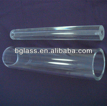 high borosilicate glass tube with lager diameter