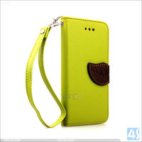 Stand Wallet Leather Mobile Phone Case for iPhone 6, For iPhone 6 Leather Casing Phone Shell with Leaf Clip and Sling