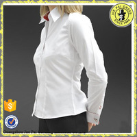 OEM factory supply white color dress shirt double cuff for wholesale