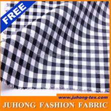 100cotton black and white check fabric