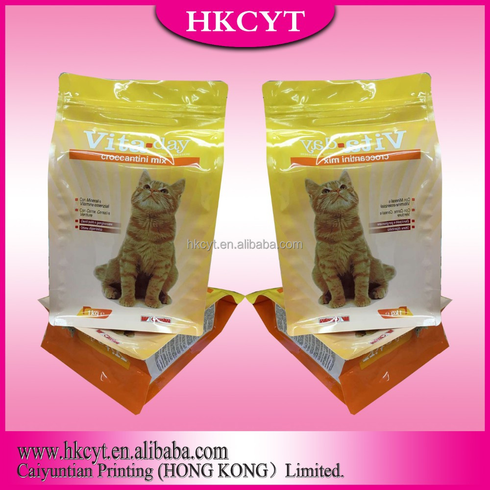 alibaba china clear window mylar bags for pet treat food