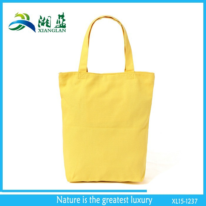 new products china supplier yellow shopping green cotton bag