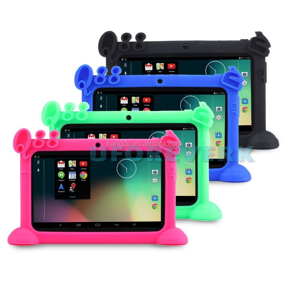 High FDA,LFGB approval Kids Silicone Stand Case Cover for 7inch Q88 Y88 Android Tablet PC A23 A33 Tab