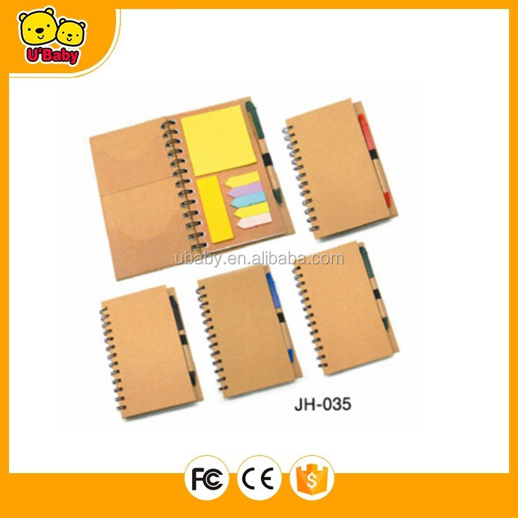 Notebook With Sticky Notes and Pen JH-035