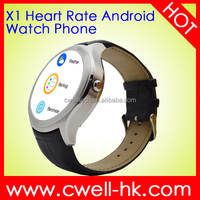"Round X1 1.3"" IPS Capacitive 360x360 Android 4.4 MTK6572 Bluetooth 4.0 Smart Watch Phone 512MB RAM 4GB ROM"