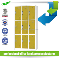 multi-color and function large wardrobe armoires/9 door metal locker/factory staff used wardrobe