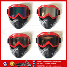 F1KC02 High quality best Motorcycle helmet goggles outdoor riding removable mask for Harley