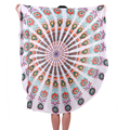 Cheap Bohemian printed wholesale microfiber round beach towel
