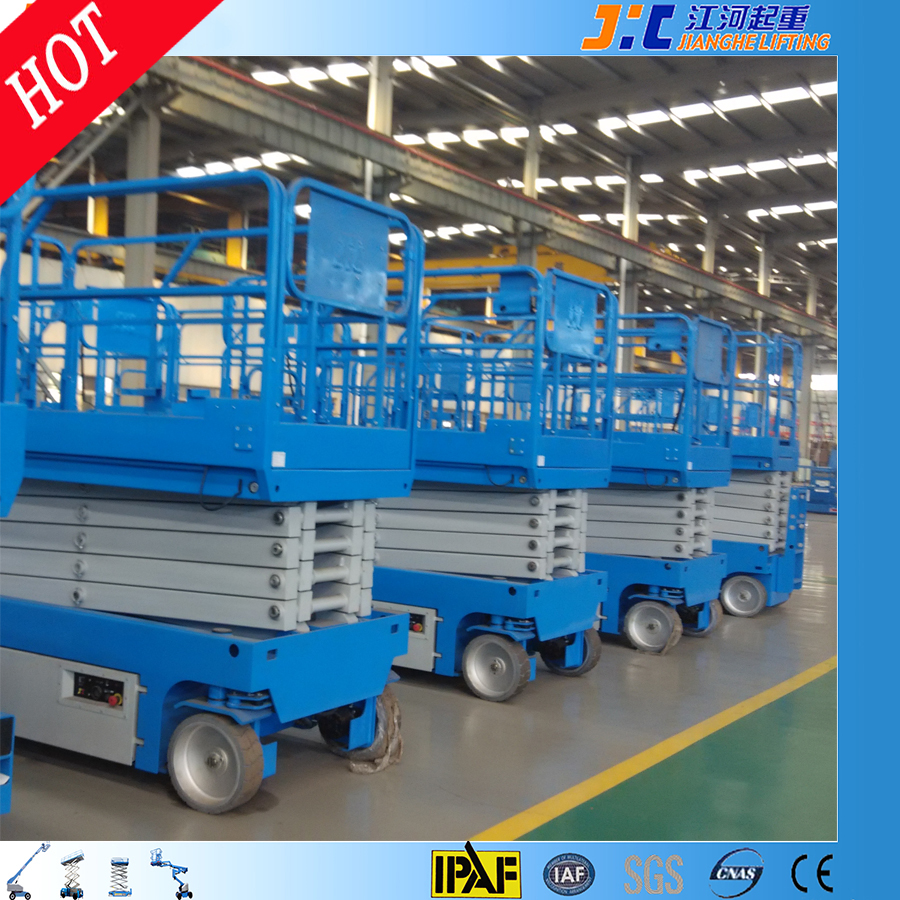 Agent Wanted 12m Self Propelled Elevating Platform Hydraulic Man Lift Electric Scissor Lift