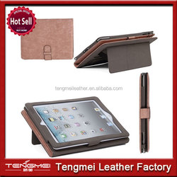 2015 hot sells PU Leather Folio Case w/ Belt Buckle Closure case for iPad air