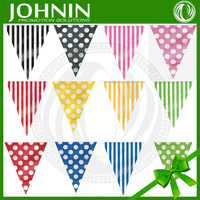 Polka Dots And Striped Summer Party Supplies Decorations Flag Banner Cheap Bunting