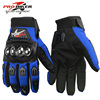 2016 New Style Blue Manufacturer Off-road Riding Full Finger Gloves Motorcycle Racing Cycling Gloves