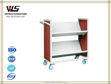 High quality Practice Metal Book Cart for library