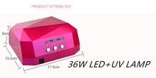 Professional Uv Dryer 36w Ccfl Led Nail Gel Uv Lamp