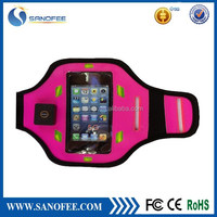 LED Sport armband for iPhone 5 Reflective sport LED armband case neoprene LED armband for phones