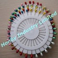 Fashion style colores 55mm long metal dressmaking pins are stocked