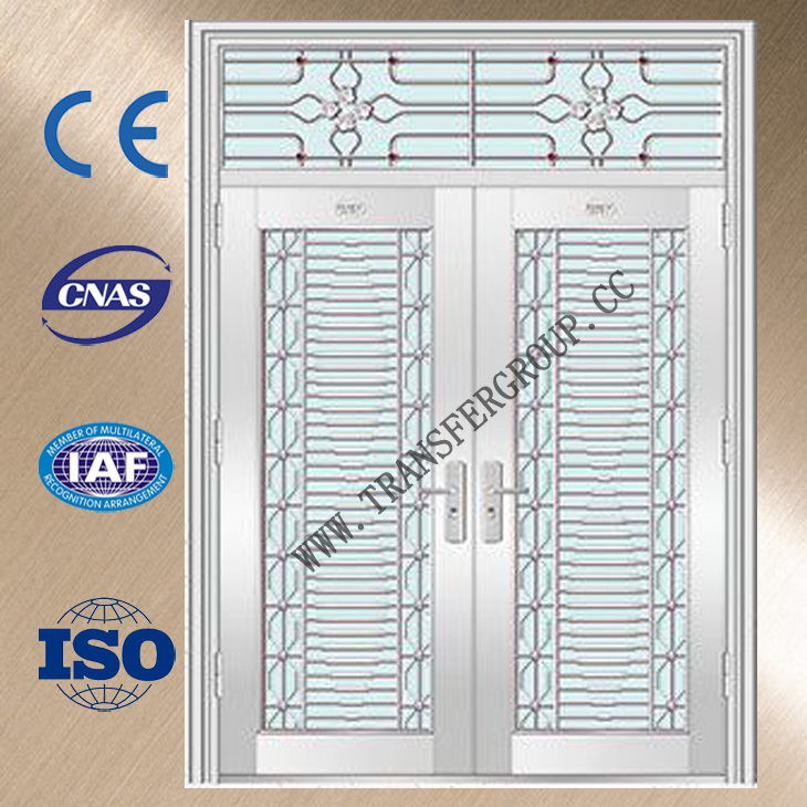 Stainless Steel fireproof double leaf door YJ-6063