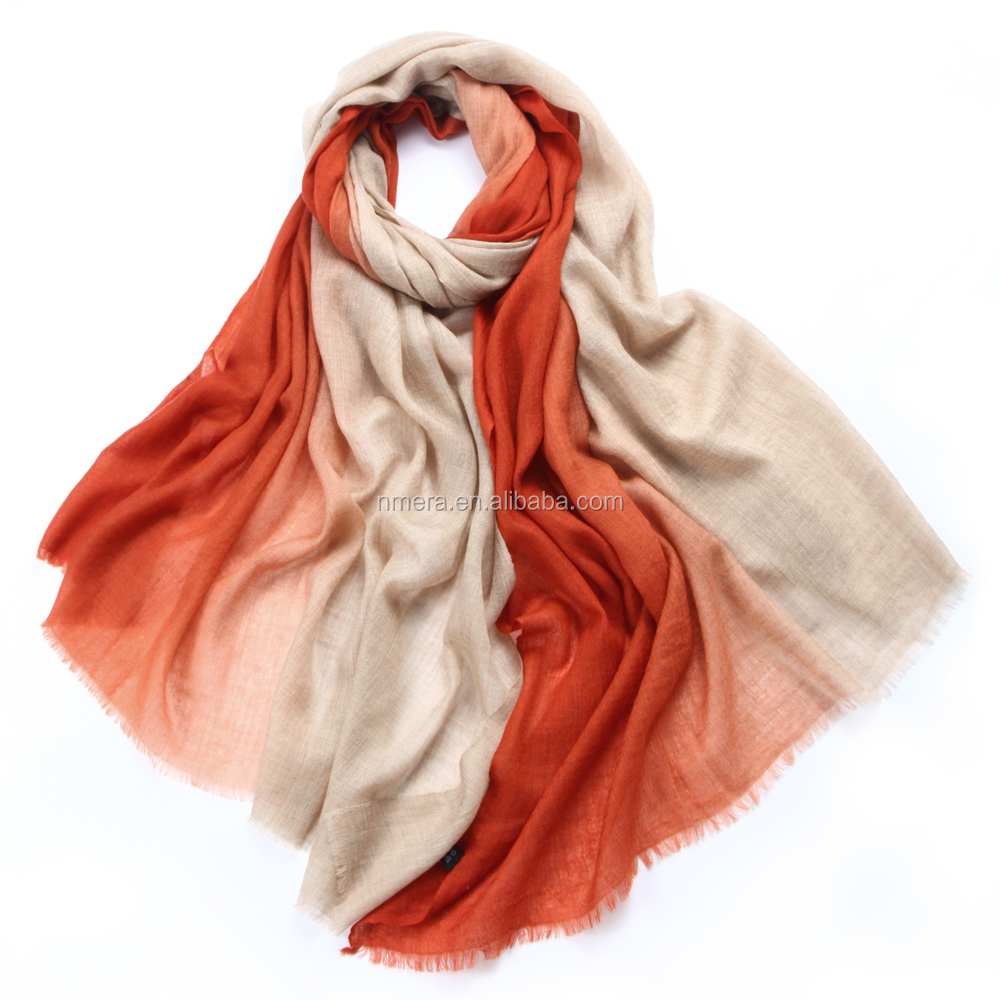 Inner Mongolia cashmere scarf high-end ladies cashmere scarf C0912034 fashion change color pure cashmere scarf