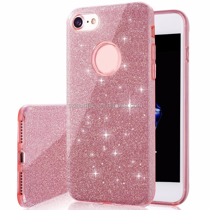 For iPhone 7 Plus Case,Premium 3 in 1 Layers Hybrid Glitter Bling TPU phone Case Cover For iPhone 7 Plus