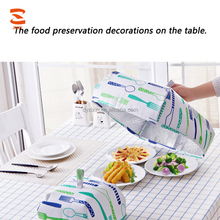 Hot Sale Small-size Folding Insulation Dust Pest Control Food Cover For Dinner Table