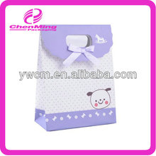 Yiwu custom printed stickup die cut slogan paper bag