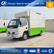 CN High efficency Mobile kitchen Service Cart trailer 4 Wheels 4x4 Commercial Ice Cream frying Food Truck with cooking bench