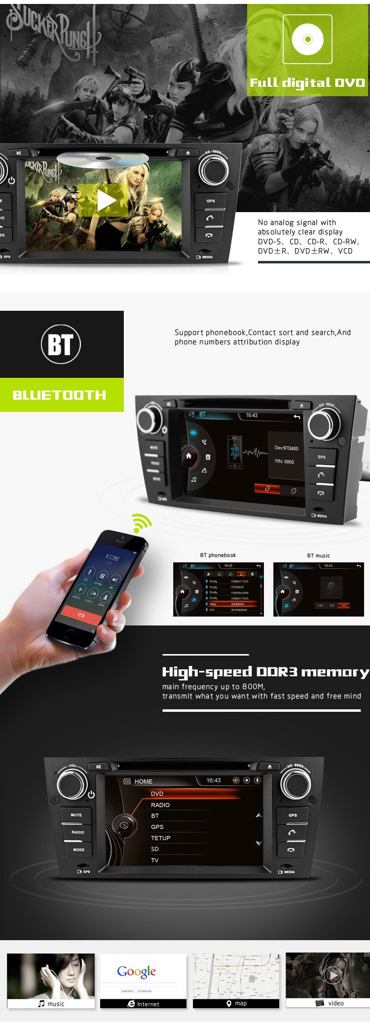 7inch 1dincar auto radio for bmw 3 series e90 e91 e92 e93 with manual automatic air conditioner