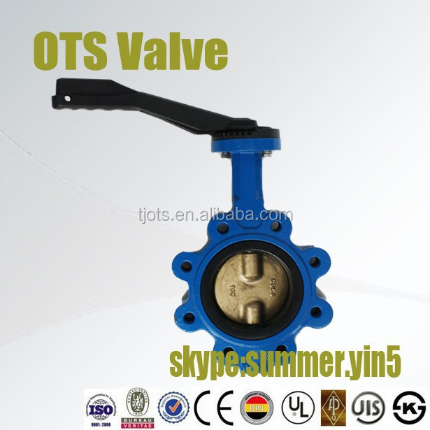 screw bolt connection butterfly valve lug type