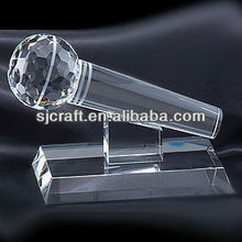 Hot sale Wholesales Customized Crystal Glass Microphone For Super Star Singer Gifts