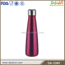 Insulated 17 oz Cola Bottle - Double Walled Vacuum Thermos - Cola Style Water Bottle Tumbler