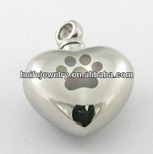 Stainless Steel Foot print Cremation Jewelry