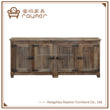 Solid wood furniture sideboard storage cabinet design for living room
