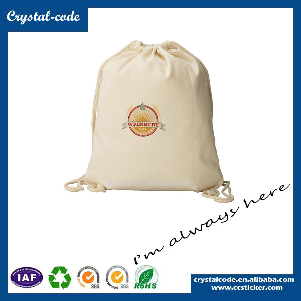 Super Quality Promotional Wholesale Cotton Tote Drawstring Fabric Bag