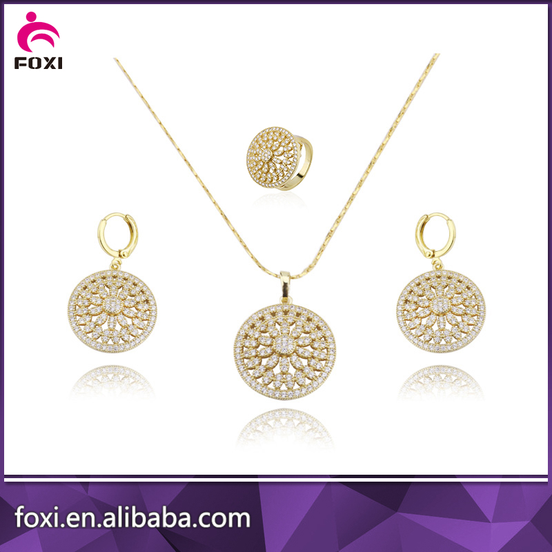 brass gold plated cz pave pakistani bridal rani haar jewelry sets