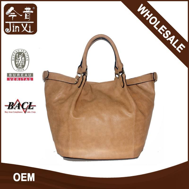 Simple elegant large capacity women's portable shopping bag