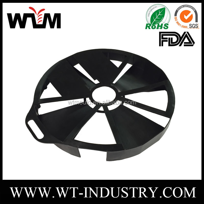 Plastic Injection Parts Maker For Car Cooling Fan Tray Injection Molding