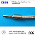 stainless steel wire braided hose with metric 74 female fittings assembly
