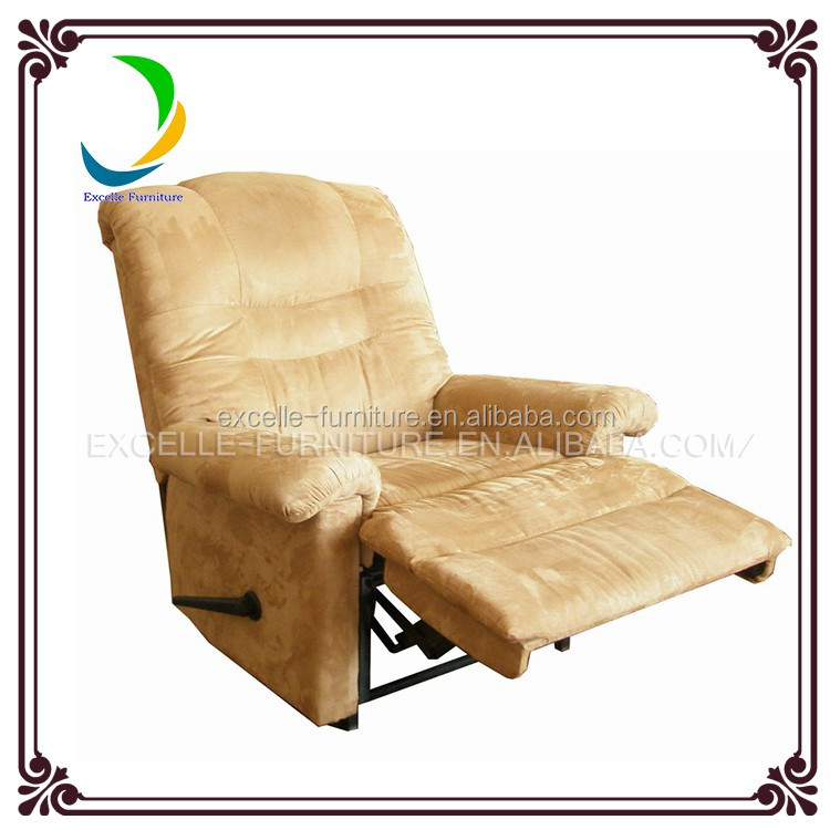 High quality fabric footrest sofas rocking chair