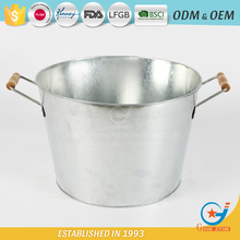 Galvanized iron garden pickling champagne cooler bucket cooler ice barrel