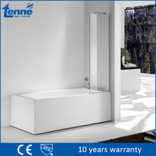 Contemporary Tenne bath screen fixed 6mm tempered glass shower panel