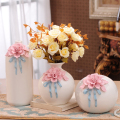 wholesale 6-pieces set ceramic porcelain home accent bud vase small for desktop