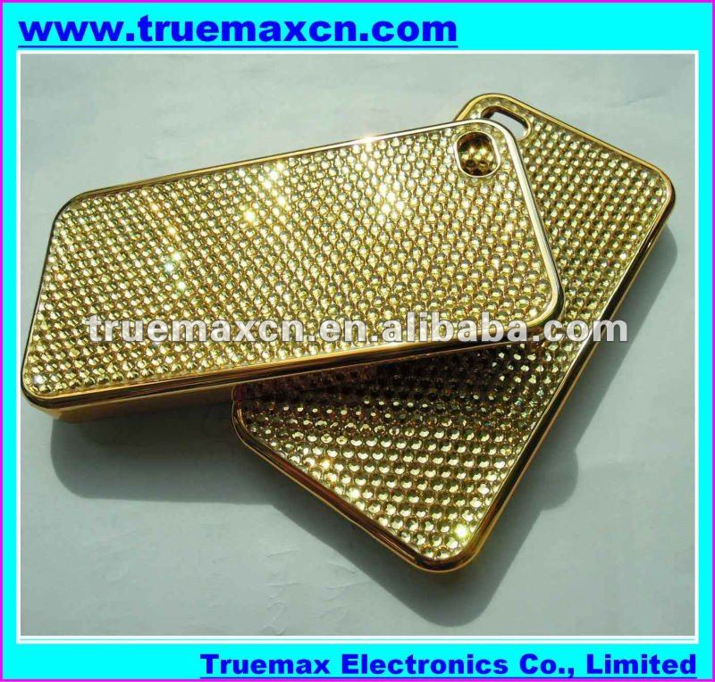 Fashionable Mobile Phone Jeweled Case for iPhone 4