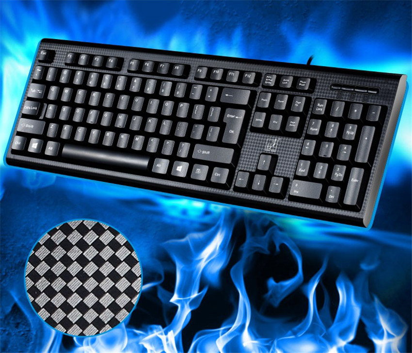 Q9 Keyboard Universal Waterproof USB Wired Computer PC Laptop Keyboard ABS 107 Keys Home Office Gaming Keyboard MK139