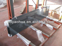 4mm Black Ceramic Fritted glass for decorative glass (ISO9001, AS/NZS 2208, CE EN12150)