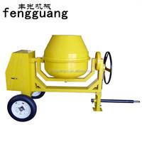260L mobile manual Rotating Drum Cement Mixer with 240 Volt