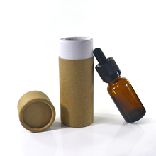 custom paper tube packaging box for 30ml glass dropper e liquid bottle with childproof cap