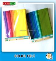 assorted soft non woven fabric 100% polyester felt color felt