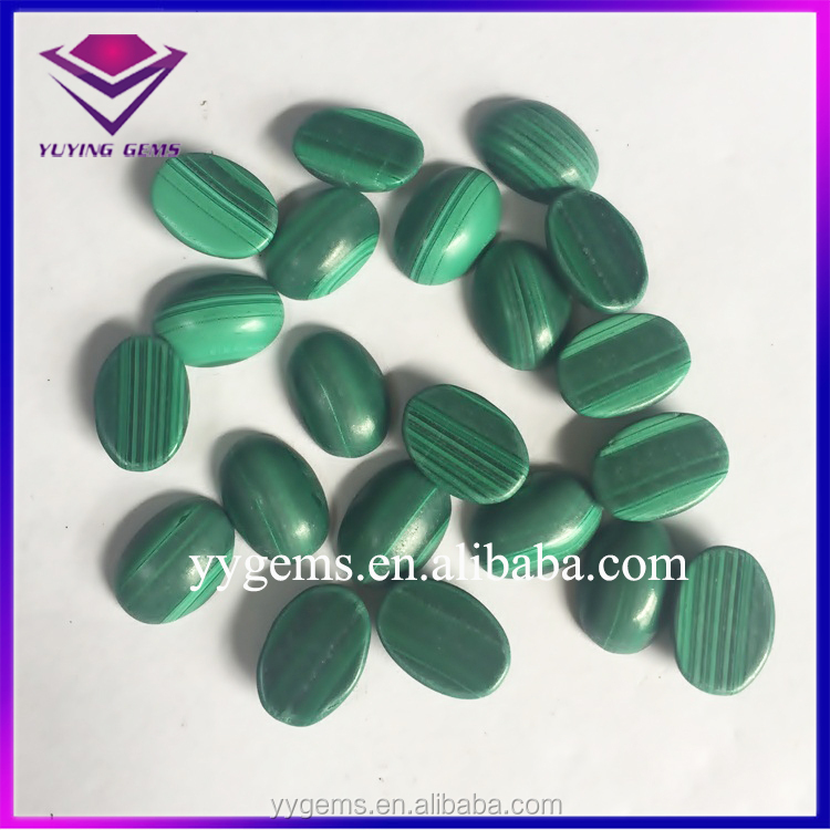 Natural oval Malachite Tumbled Stone, Mineral stone Roughs, Healing Raw Gemstone Prices
